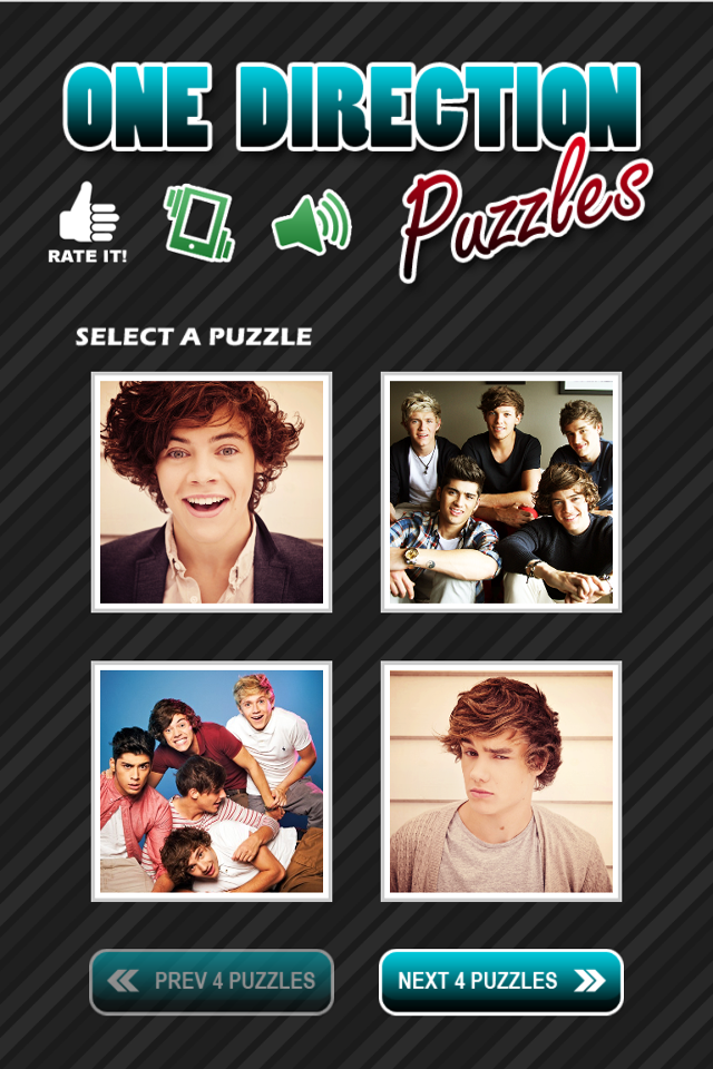 Screenshot One Direction Fans Puzzles and Pics Full